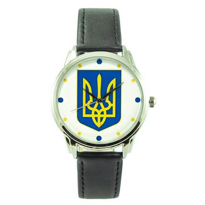 Купить часы наручные Наручные часы Герб на черном от Andywatch в Киеве и Украине. Кожаный ремешок и качественный